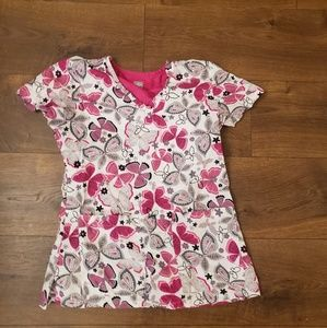 Med Couture Floral Scrub Top XS